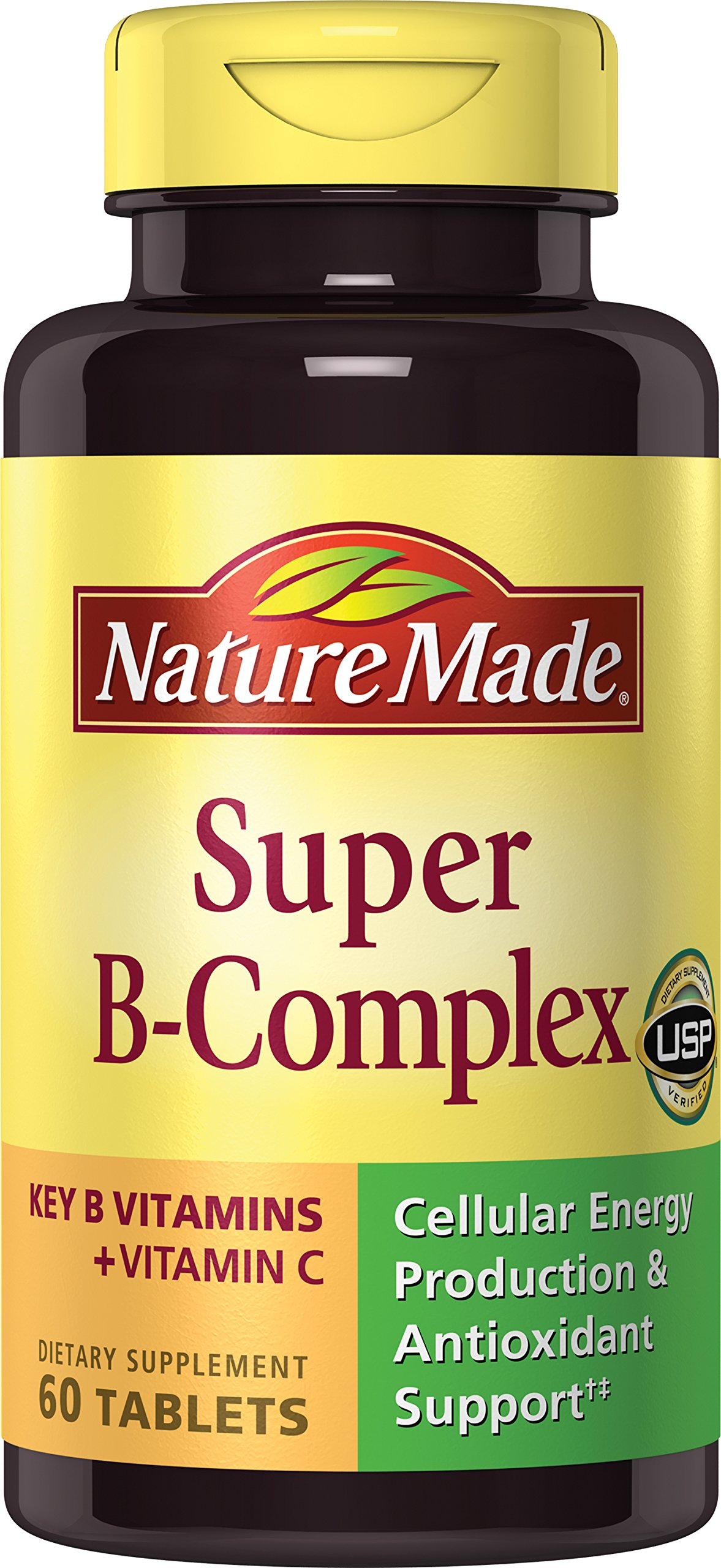 Nature Made Super B Complex + Vitamin C Tablets, 60 Count
