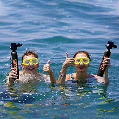 Party and Trip SMACO Scuba Tank for Diving Tank Mini Scuba Dive Cylinder Support 5-10 Minutes Scuba Diving Equipment Tank Mini Scuba Tank Breath Underwater Device Professional Pony Bottle for Family