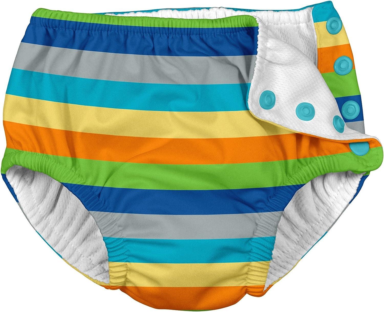 18/m da 12/a 18/mesi I Play Snap riutilizzabile pannolino costume da bagno grigio multi Stripe