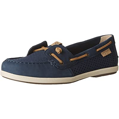Sperry Top-Sider Coil Ivy Scale Emboss Boat Shoe Women 9.5 Navy | Loafers & Slip-Ons