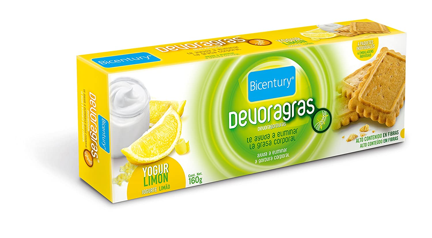 Bicentury Galletas devoragras Yogur Limón - 160 gr: Amazon.es: Amazon Pantry