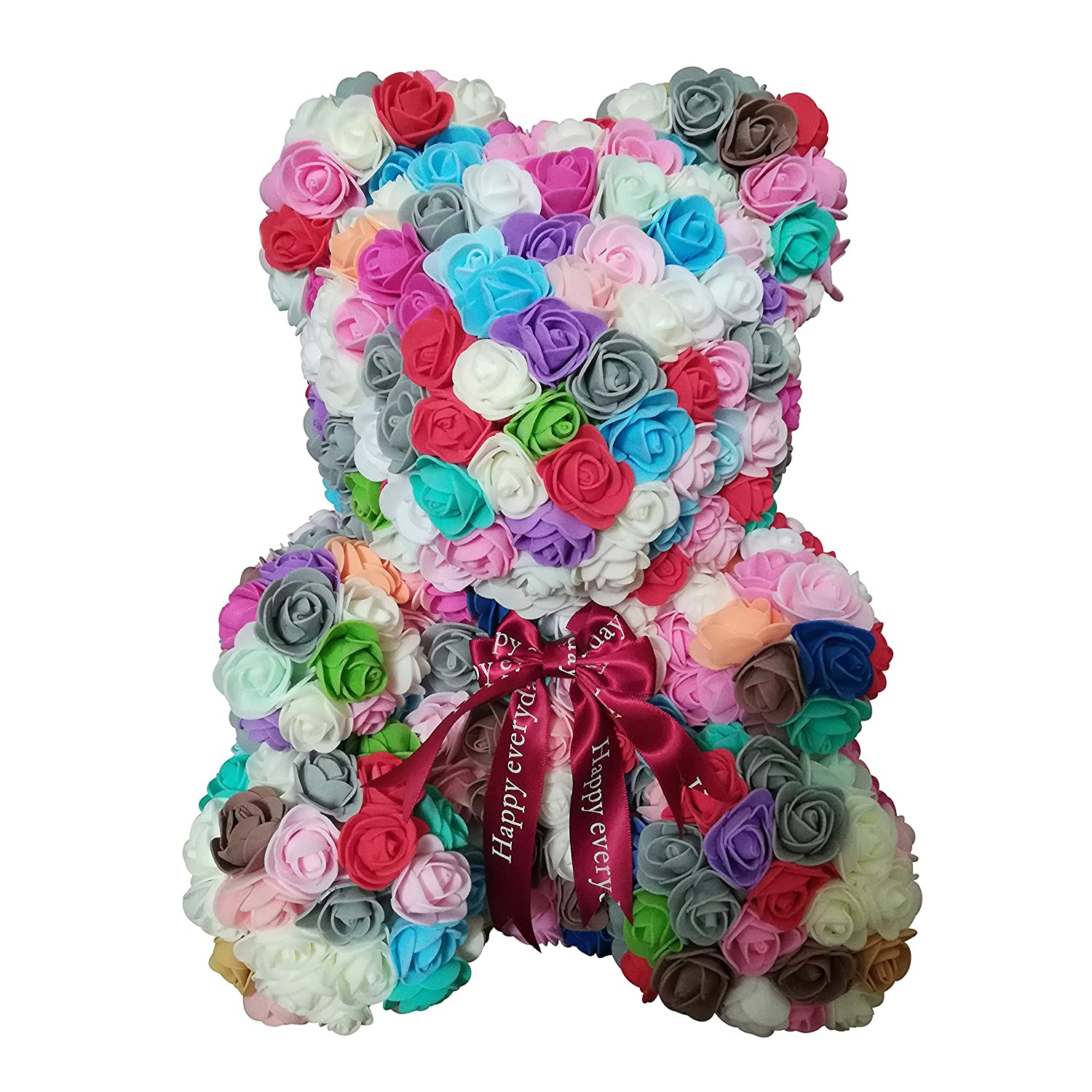 Teddy Bear Rose Bear Artificial Rose Bear Cub Anniversary Christmas Valentines Gift by Longshow forever artificial rose Forever Rose Everlasting Flower for Window Display tigerlee