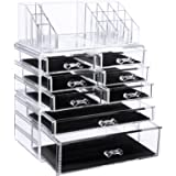 SONGMICS Makeup Cosmetic Organizer Jewelry storage Case 3 Pieces Set UJMU08T