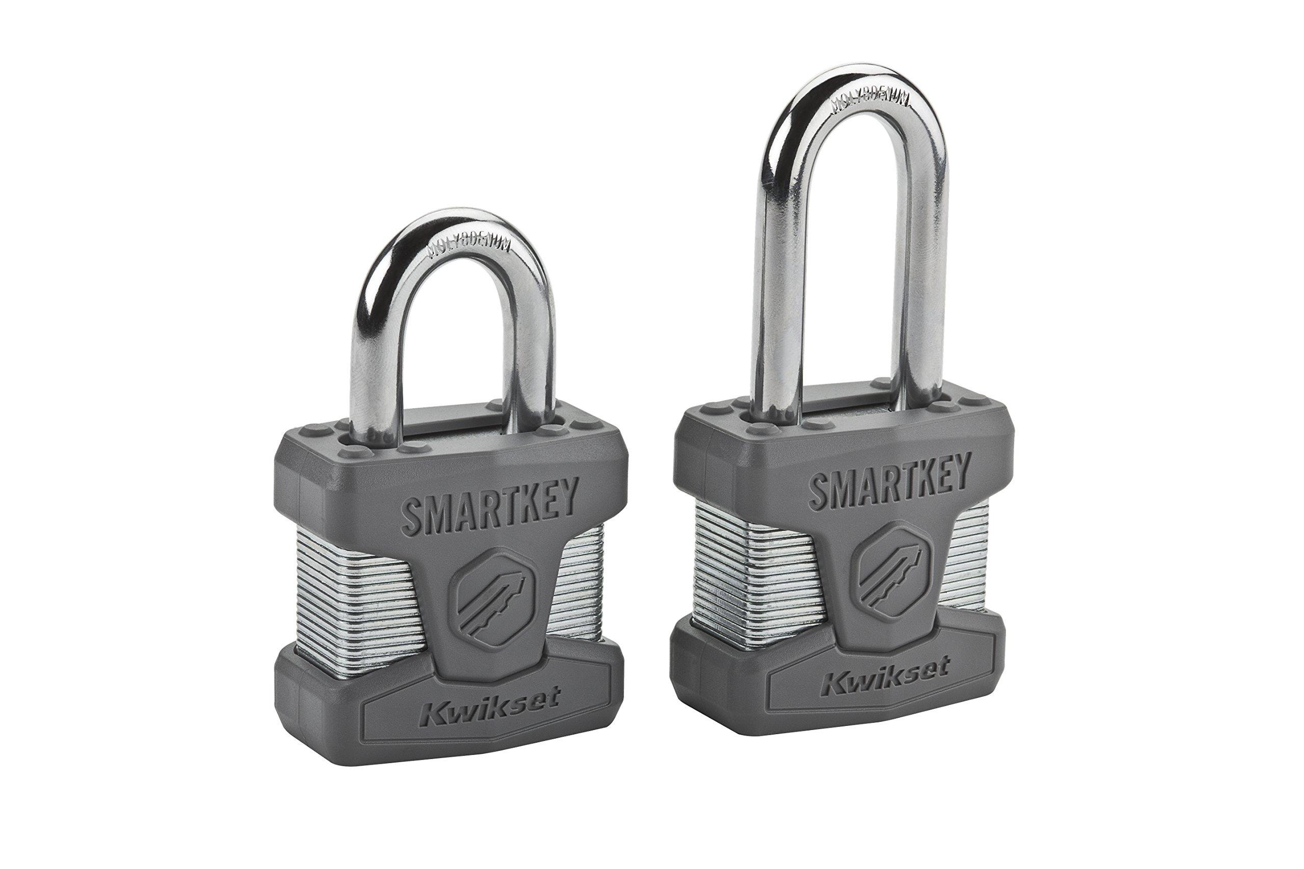Kwikset 50MM SmartKey Padlock Standard Shackle in Satin Chrome by Kwikset (Image #2)