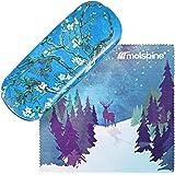 Molshine Retro Light Portable Glasses Case for Reading Glasses