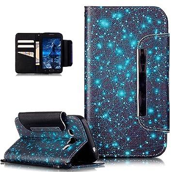 Galaxy Grand Prime caso, funda tipo cartera para Samsung ...