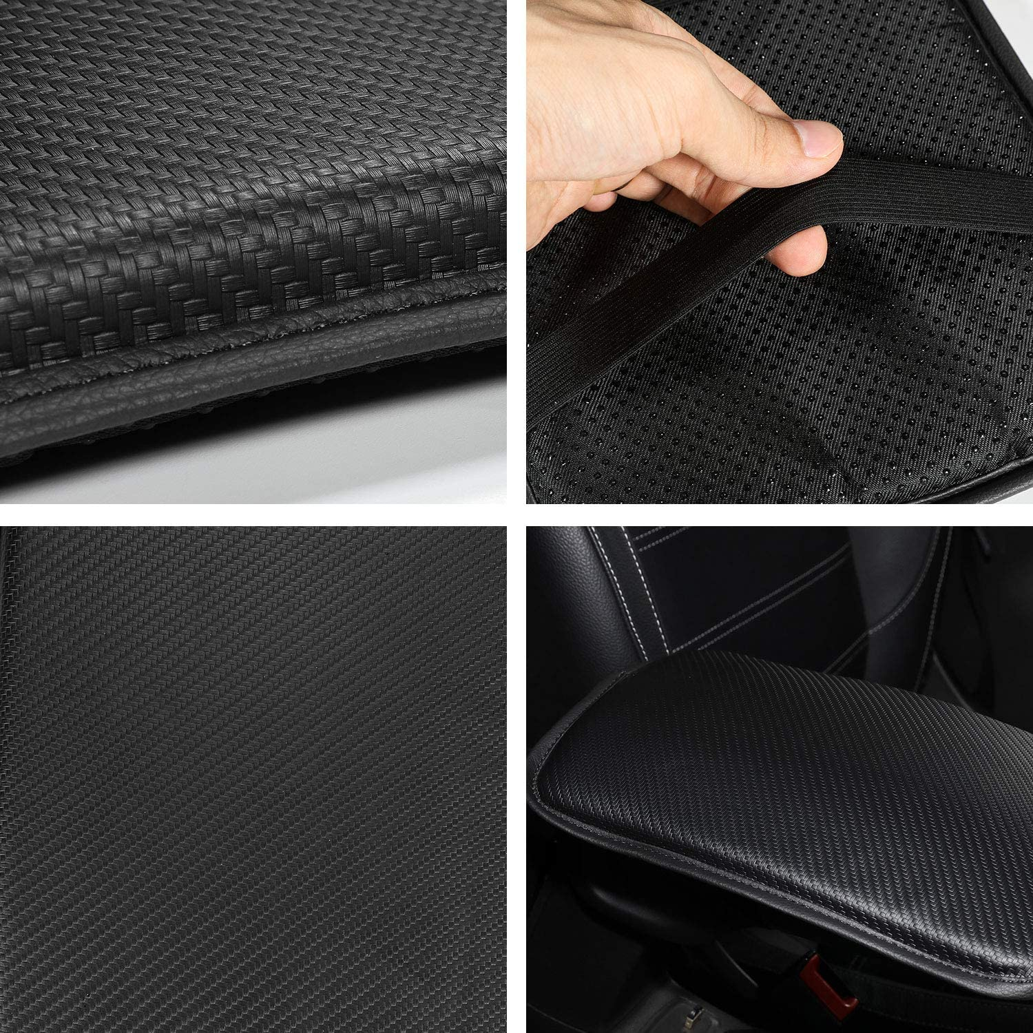 Waterproof Car Armrest Seat Box Cover Protector Black Auto Center Console Cover Pad for Most Vehicle//SUV//Truck//Car Universal Fit