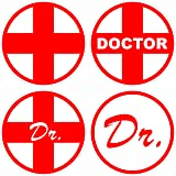 iDesigns Universal Red Outer Stickers for All Cars and Bikes - Set of 4