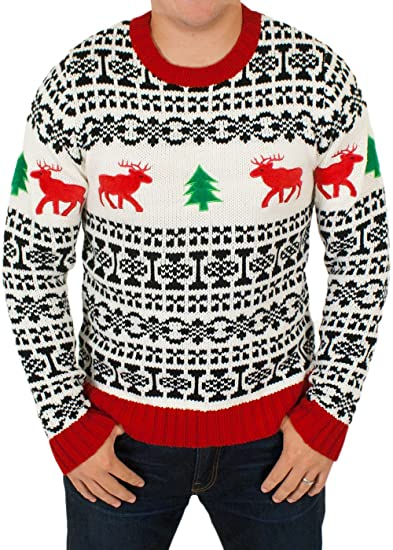 6f80f9f09 Holiday Reindeer Men s Sweater in Antique - Ugly Christmas Sweater ...