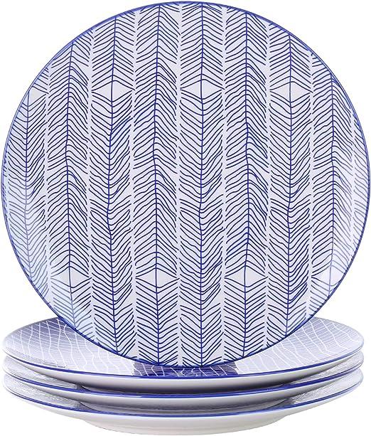 Amazon.com: VANCASSO - Vajilla de cerámica de porcelana para ...