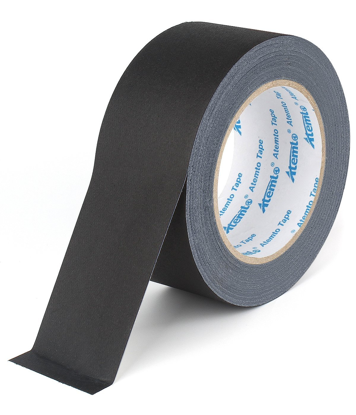 Gaffer Tape, Atemto Heavy Duty Non Reflective Adhesive Gaffers Tape Black 2inch×30yards Professional Easy to Tear Removable No Residue Better Duct Electrical Gaffer's Stage Tape