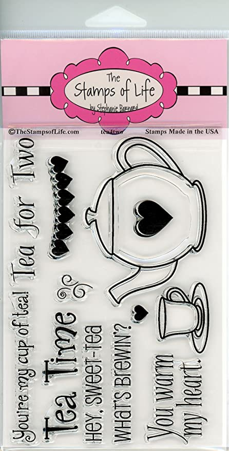 tea4two and Tea Set Dies The Stamps of Life Clear Stamps /& Dies