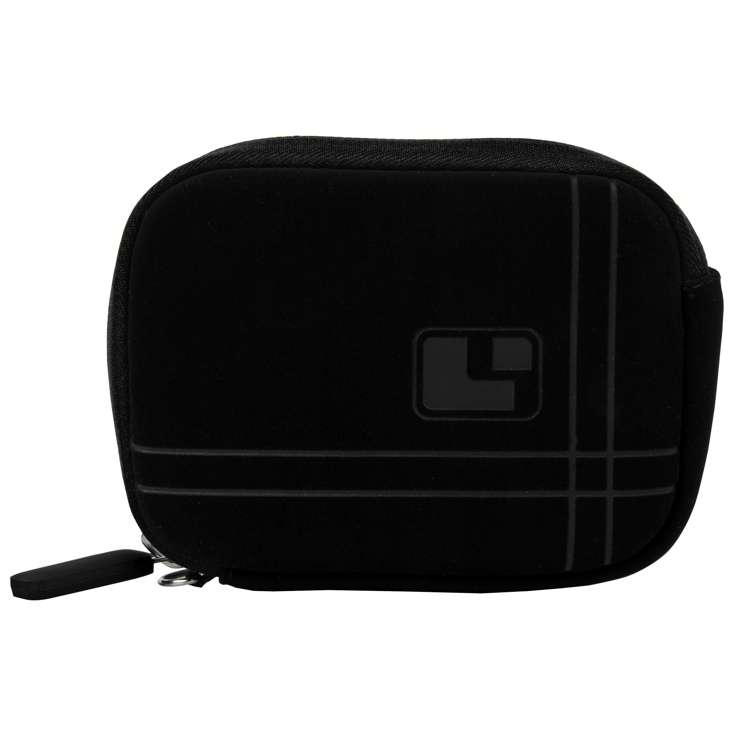 (Black) SumacLife Micro Suede Neo Bubble Camera Sleeve for Panasonic Lumix DMC-ZS30 (Lumix DMC-TZ40) Point & Shoot Digital Camera