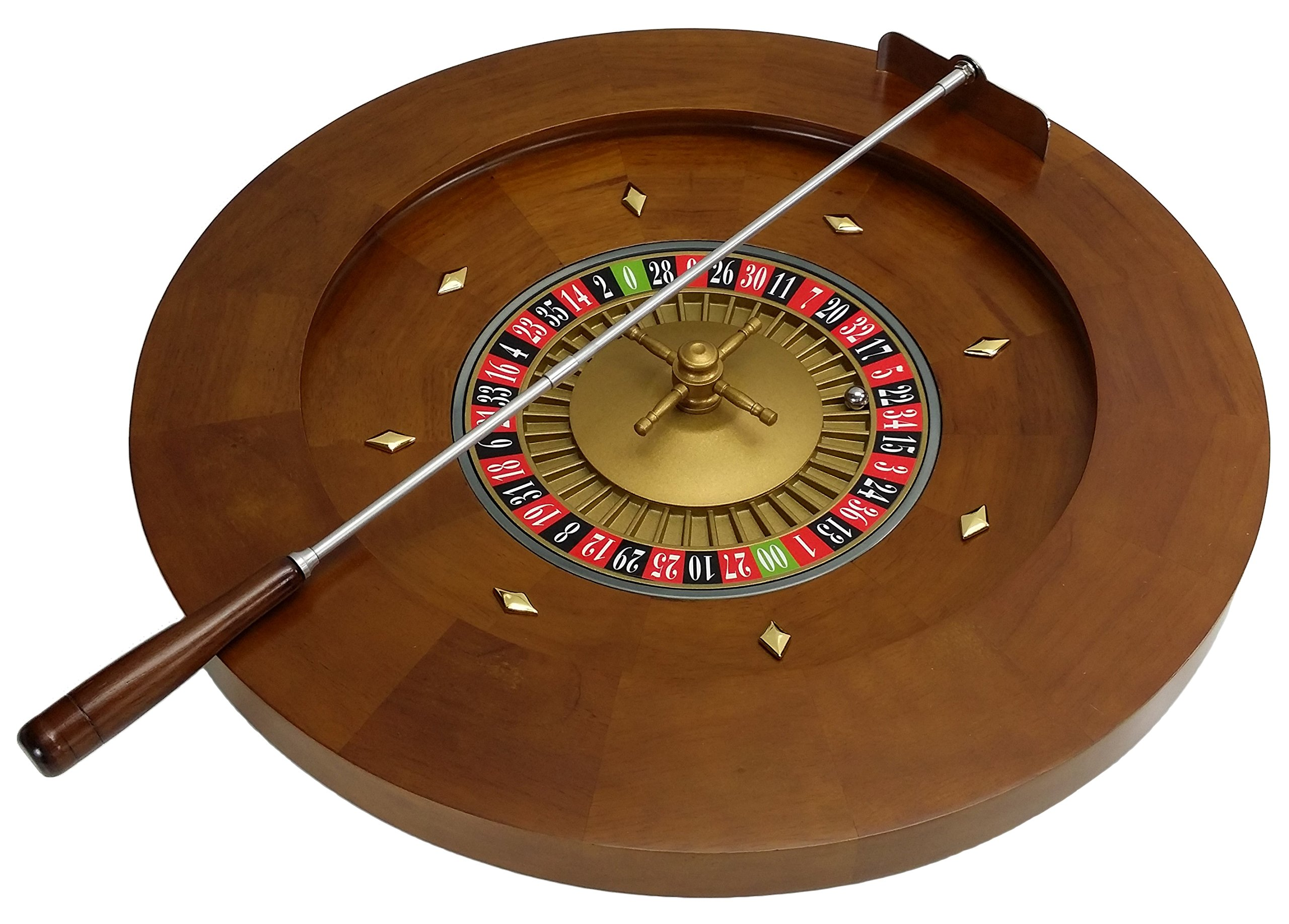 20'' Professional Wood Roulette Wheel With Layout For Table or Freestanding by HPL