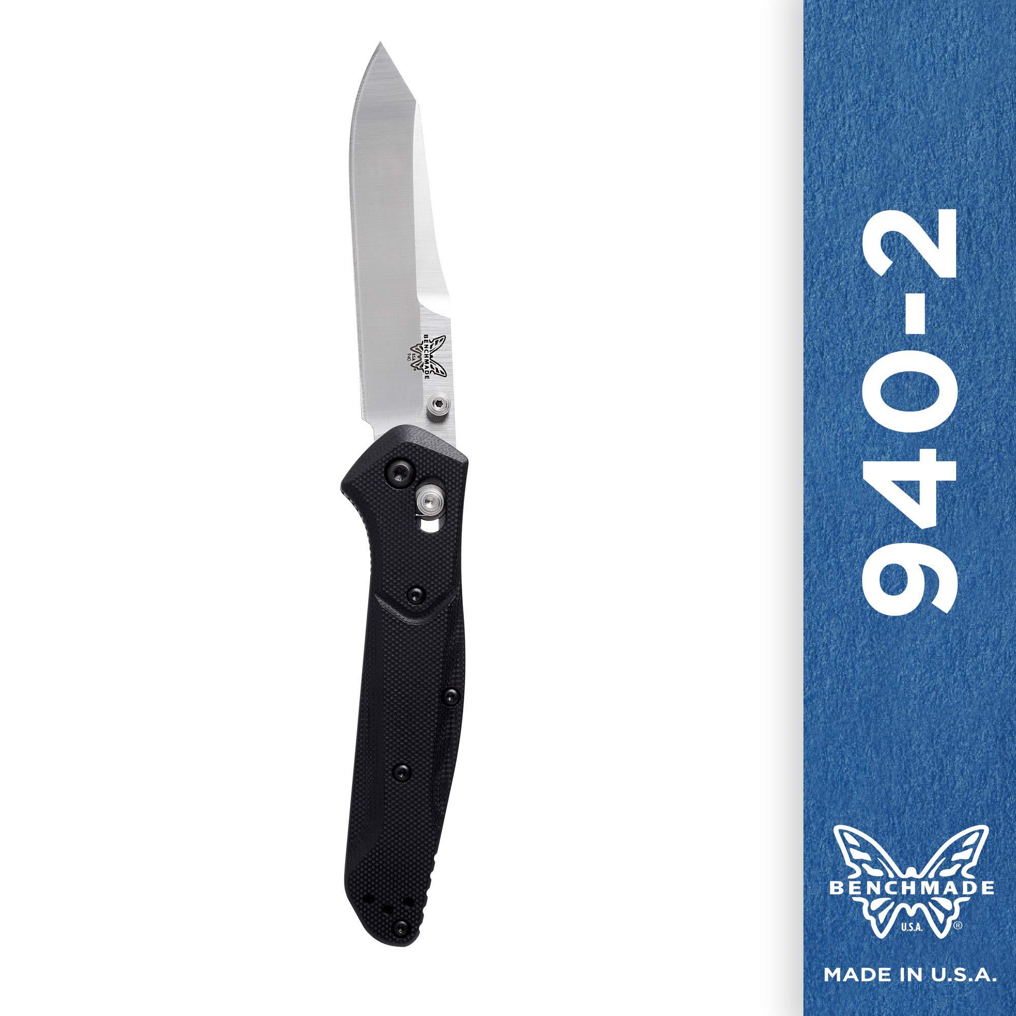 Benchmade - 940-2 Knife, Reverse Tanto Blade, Plain Edge, Satin Finish, G10 Handle by Benchmade