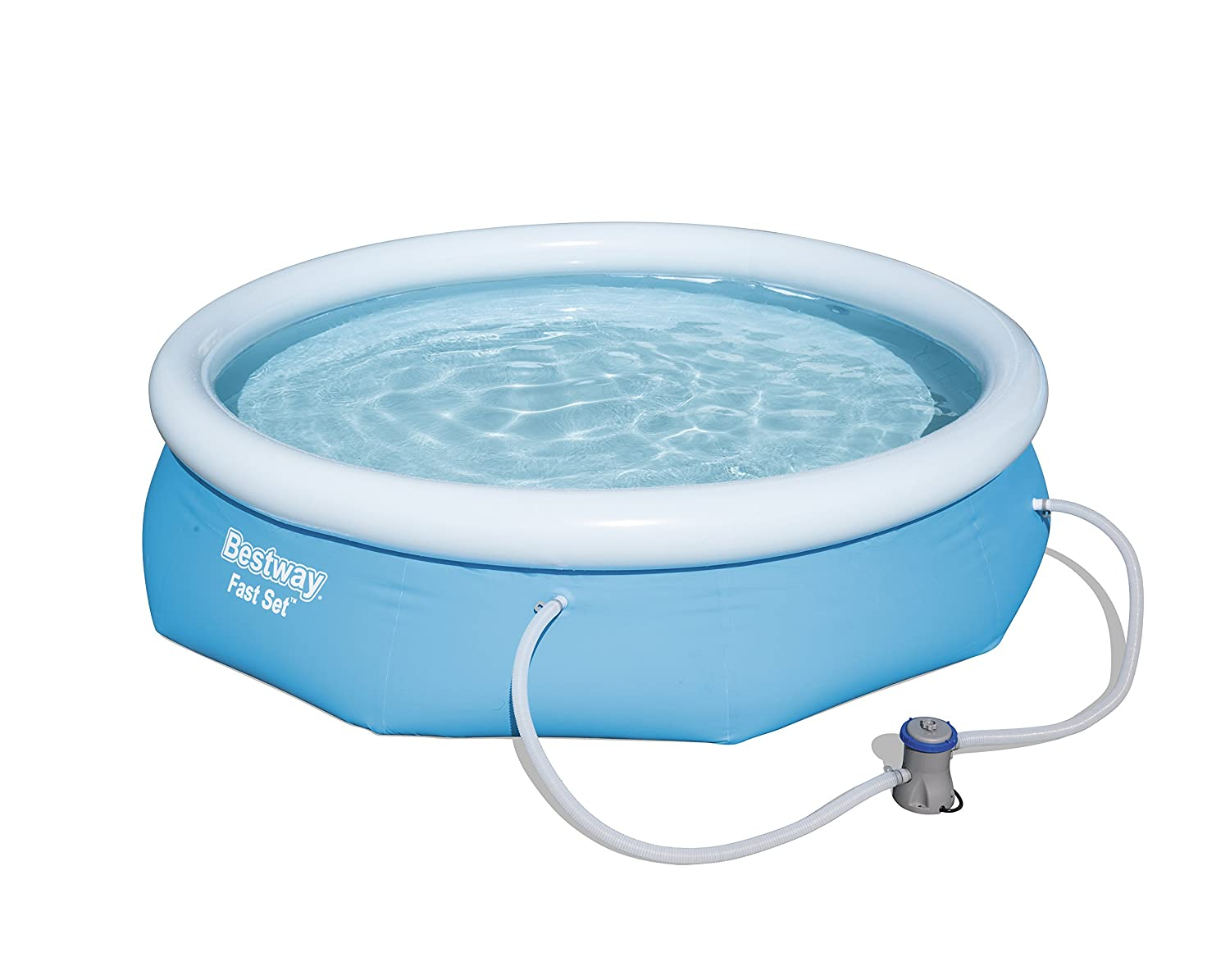 Bestway Inflatable Fast Set Swimming Pool with Pump, 10 feet 57270