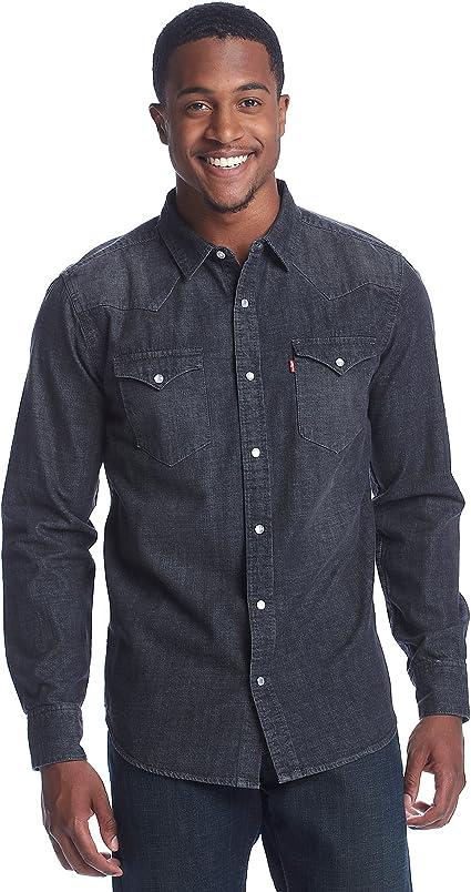 Levis - Camiseta de manga larga para hombre (talla mediana), color gris: Amazon.es: Ropa y accesorios