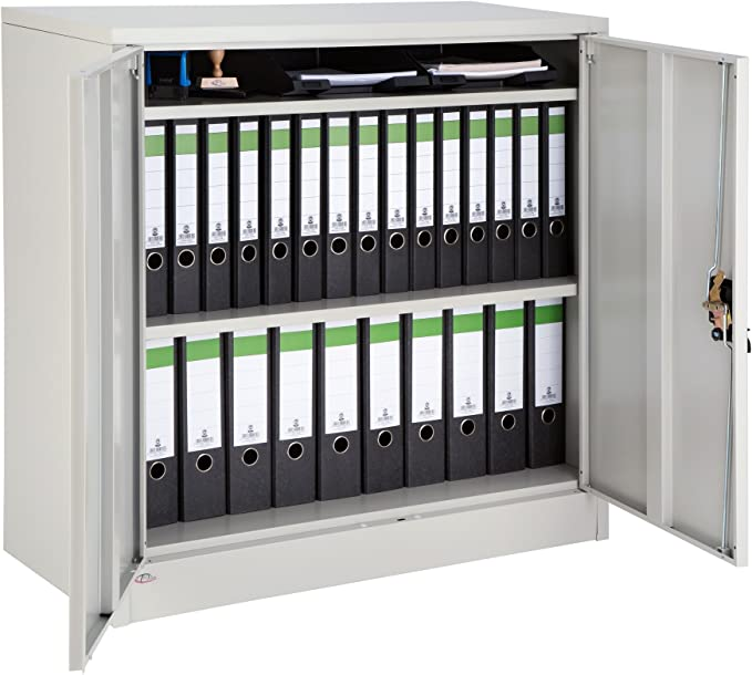 TecTake Armario archivador de Oficina metálico con 2 Puertas ...