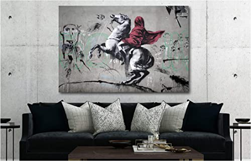 Banksy Art Canvas Wall Art Home Decor Pre-Stretched Canvas 30in x 45in Framed