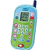 VTech - El teléfono de Peppa Pig, Móvil electrónico interactivo que simula una conversación telefónica, Voces de todos…