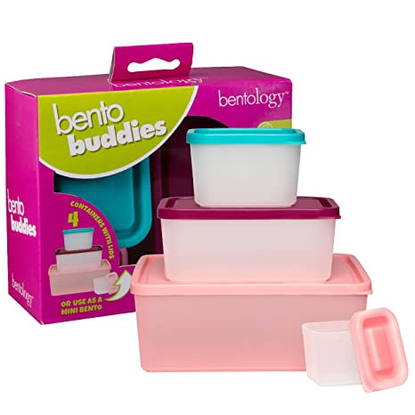 Amazon.com: Bentology Snack Buddies – Mini Bento Snack ...
