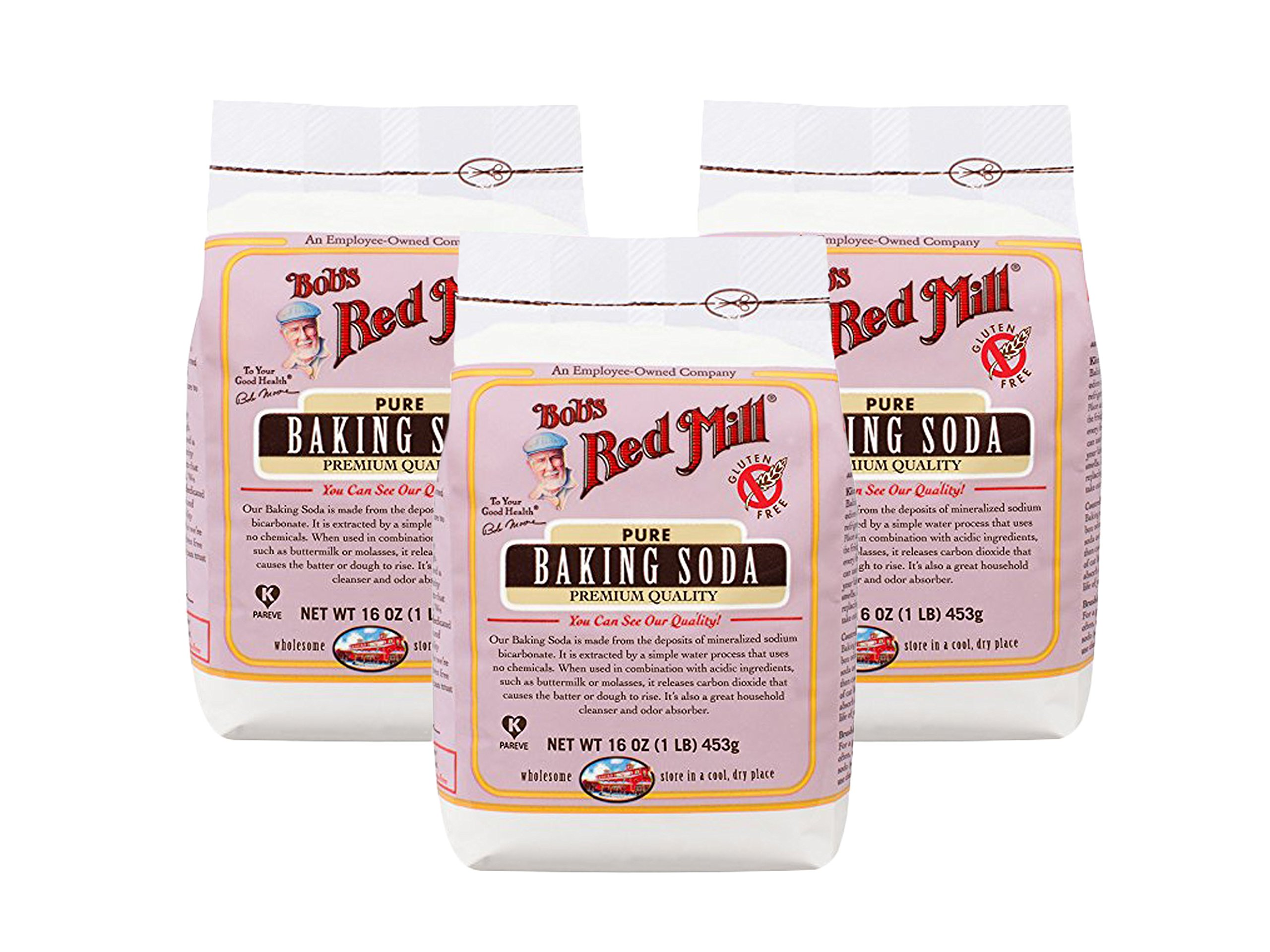 Set of 3 Bob's Red Mill Baking Soda, 16 Ounce bundled by Maven Gifts