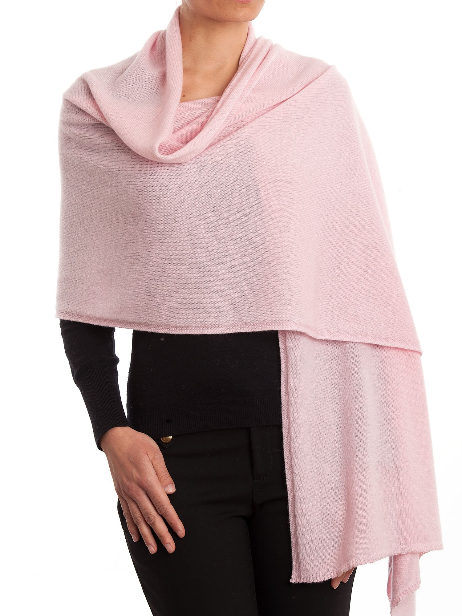 Dalle Piane Cashmere - Stole 100% cashmere - Made in Italy, Color: Pink, One size