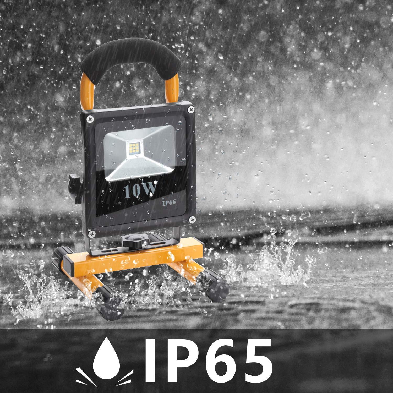 Patio Pescado Terraza Camping Luz Protector Port/átil Hengda/® 10W Blanco fr/ío LED Foco proyector Recargable del Jard/ín al Aire Libre