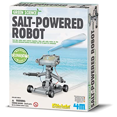 4M Green Science Salt Water Powered Robot Kit - Green Energy Robotics STEM Toys Educational Gift for Kids & Teens, Girls & Boys: Toys & Games