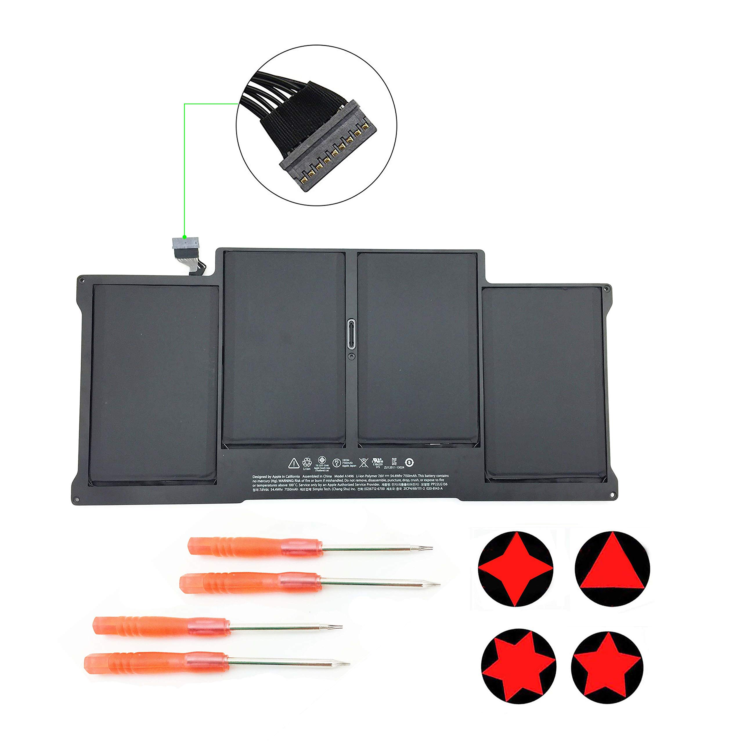 Bateria A1405 A1369 Para Apple Macbook Air 13 Inch A1466 Mid 2012 Mid 2013 Early 2014 Early 2015 A1369 Late 2010 Mid 201