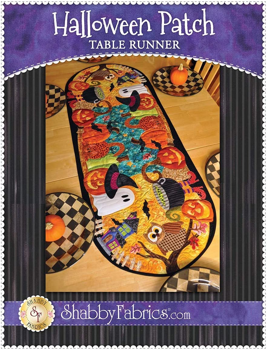 Halloween Patch Table Runner Shabby Fabrics Quilt Pattern
