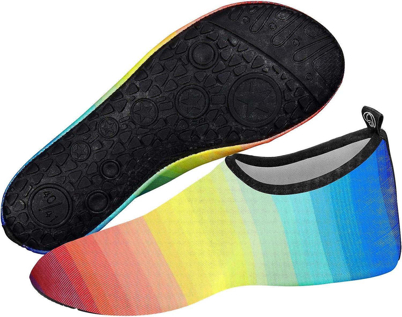 todaysunny Chaussettes de Sport Aquatique de Nager de Surf de Yoga et de Plage Pieds Nus /à s/échage Rapide Aqua Chaussettes Slip-on Chaussures deau pour Enfants Hommes Femmes