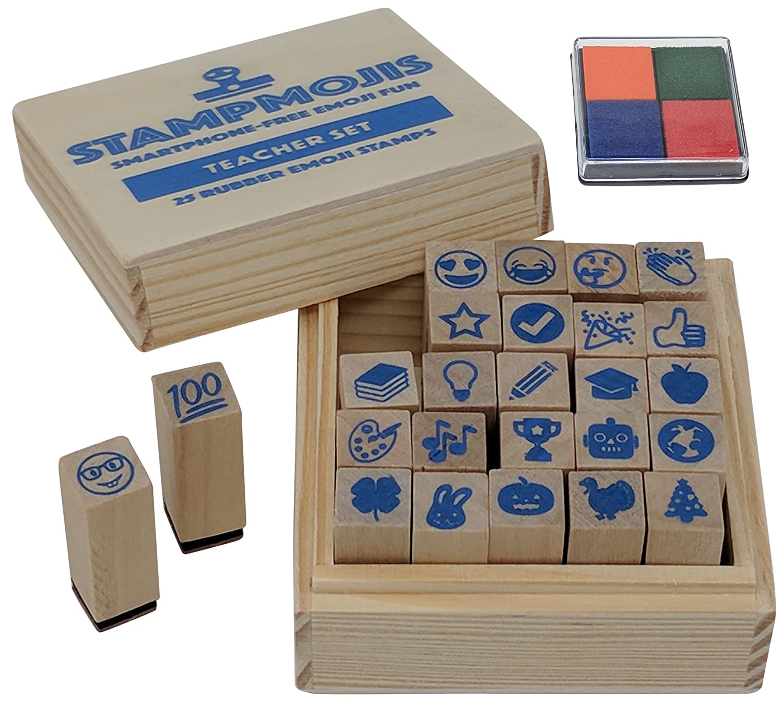 Amazon Com Teacher Gifts Set By Stampmojis Teacher Emoji Stamps