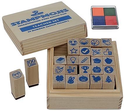 <b>Amazon</b>.com: Teacher <b>Gift</b> Set by Stampmojis (Teacher Emoji Stamps+ ...
