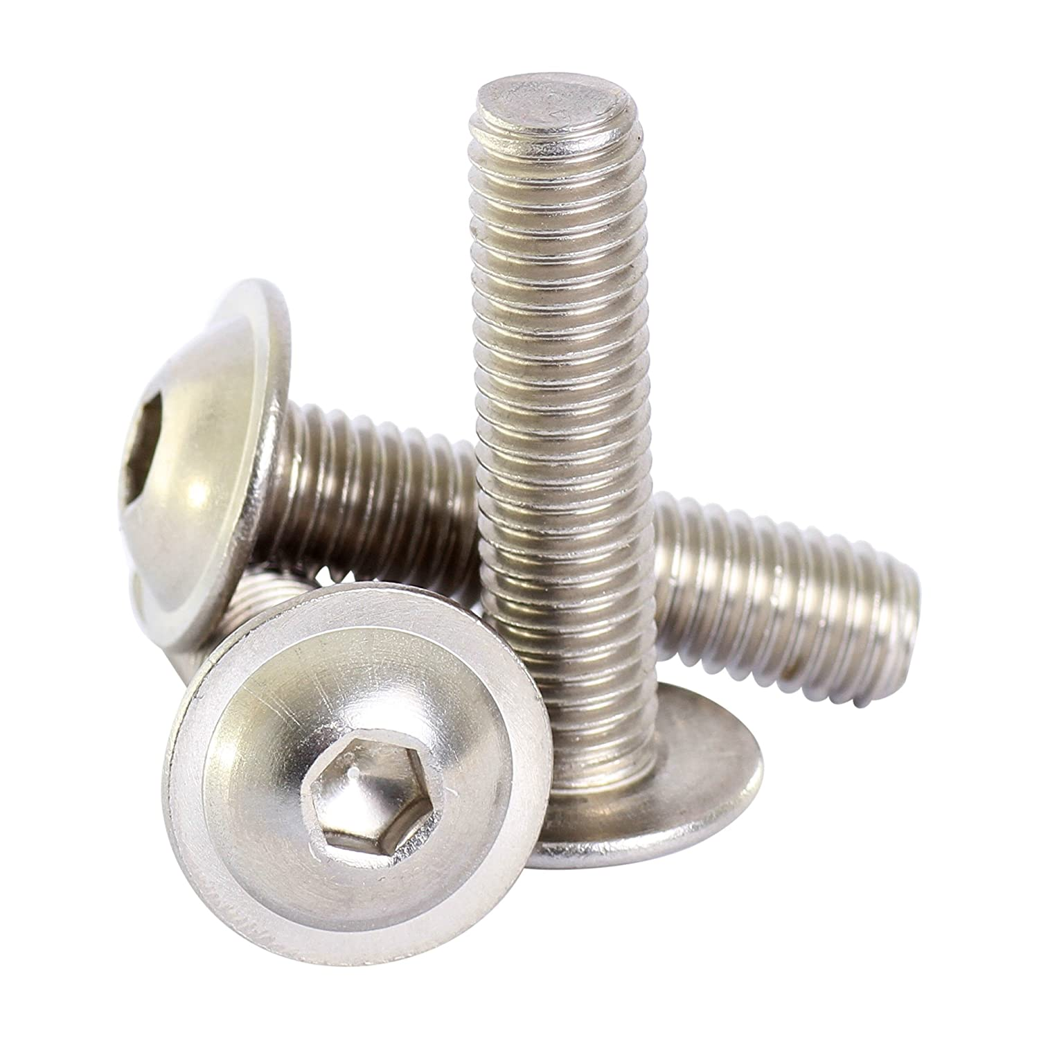 Bolt Base 6mm A2 Stainless Steel Flanged Button Head Allen Bolt Hex Socket Screw M6 X 50-100