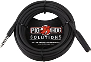 """Pig Hog PHX14-25 1/4"""" TRSF to 1/4"""" TRSM Headphone Extension Cable, 25 Feet"""