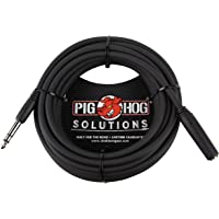 "Pig Hog PHX14-25 1/4"" TRSF to 1/4"" TRSM Headphone Extension Cable, 25 Feet"