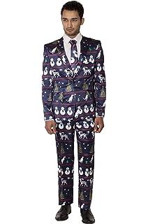 mens slim fit fancy dress novelty christmas suit costume - Christmas Suits For Mens