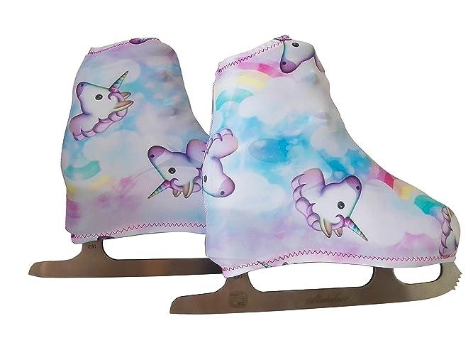 Funda Cubre patines para patinaje artistico sobre ruedas o sobre hielo, impresión UNICORN