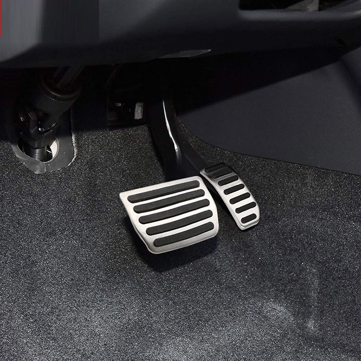 lovely Performance Aluminum Accelerator /& Brake Pedal Covers,Car Stainless Steel AT MT Gas Pedal Brake Pedals Fit for Volvo XC60 XC70 V60 V70 S40 S60 S80L C30 Hjiaqi Color Name : MT