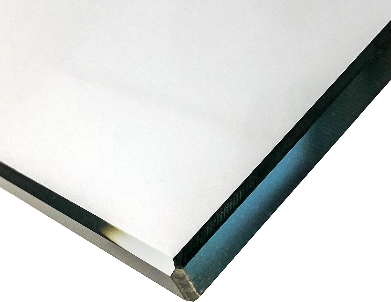 Einscheibensicherheitsglas ohne Stempel biege- und sto/ßbelastbar. Kanten geschliffen und poliert Nach Ma/ß bis 60 x 60 cm 600 x 600 mm Glasplatten ESG 5mm Ecken gesto/ßen klar durchsichtig