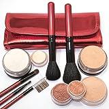 IQ Natural Large Mineral Makeup Kit; 12pc Get Started Set includeds 6pc Brush Set