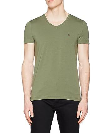 spottbillig beste Qualität für am modischsten Tommy Hilfiger Men's Stretch Slim Fit V-Neck Tee T-Shirt