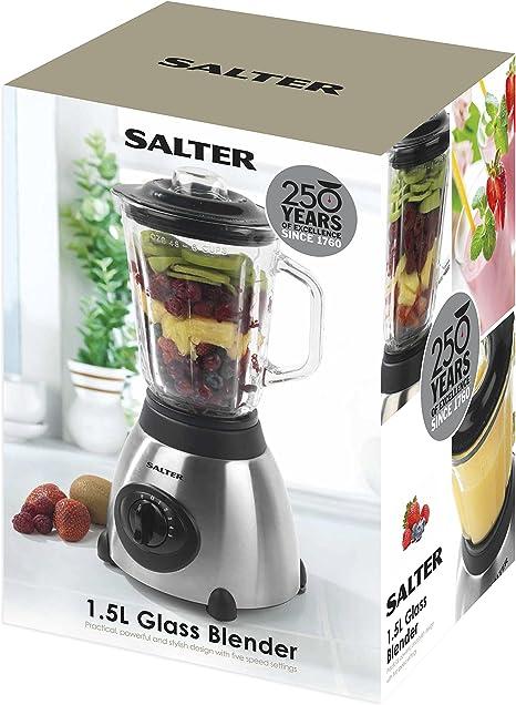 Salter EK1689 Glass Jar Blender with 5