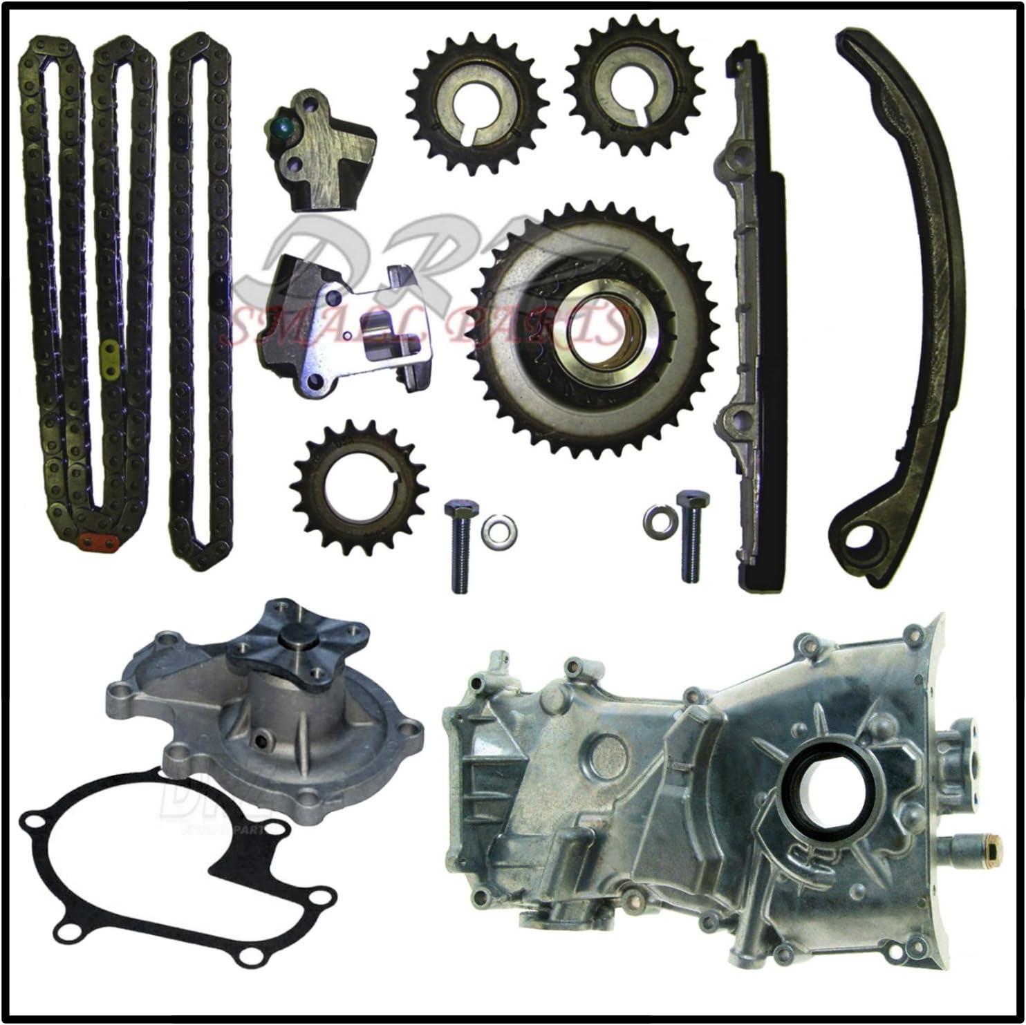 Timing Chain Kit w// Water Oil Pump for 98-01 Nissan Altima 2.4L DOHC KA24DE