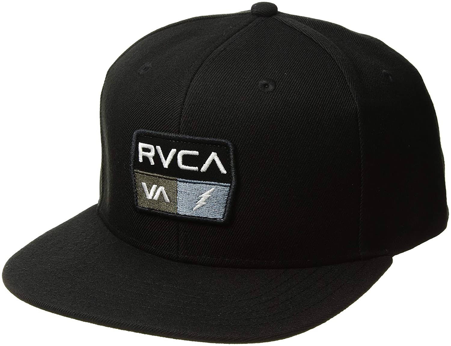 RVCA Men's 9volt Snapback Hat Black One Size MAHWQR9V