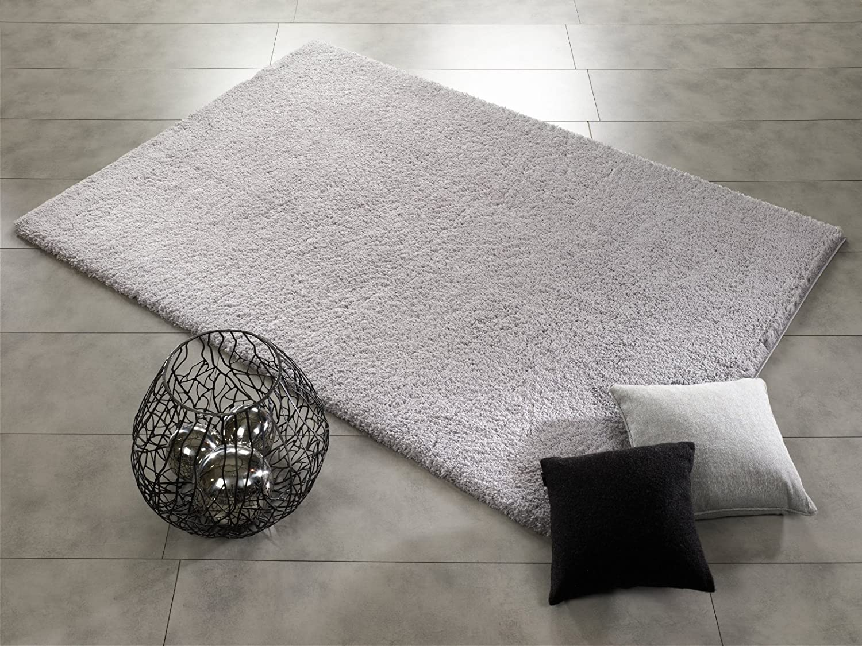 SOFTGROUND SHAGGY weicher kuscheliger Hochflor Langflor Teppich in grau, Größe  80x150 cm