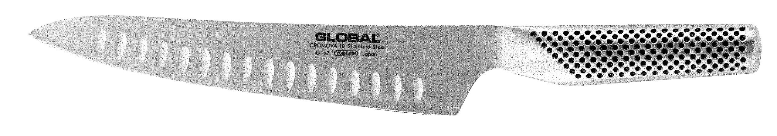 Global G-67 - 8 1/4 inch, 21cm Carving Hollow Ground Knife