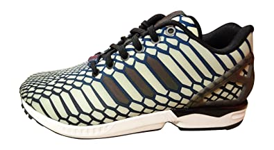 nero and gold adidas zx flux uomo
