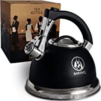 BARVIVO Premium Whistling Tea Kettle - Perfect for Preparing Hot Water Fast for Coffee or a Pot of Tea - Large 3 Quart…